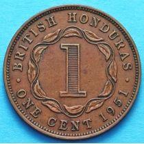 Британский Гондурас 1 цент 1951 год