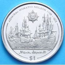 Британские Виргинские острова 1 доллар 2005 г. Корабли Нельсона