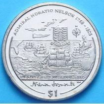 Британские Виргинские острова 1 доллар 2005 год. Адмирал Нельсон