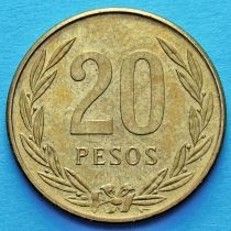 Колумбия 20 песо 1982-1989 год. Церемониальный сосуд Кимбайя.