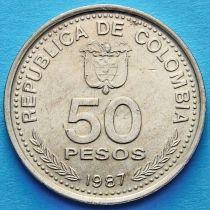 Колумбия 50 песо 1986-1989 год. Конституция.