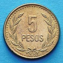 Колумбия 5 песо 1989-1993 год.