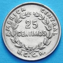Коста Рика 25 сентимо 1967-1978 год