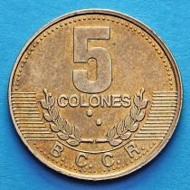 Коста Рика 5 колонов 1995-2001 год.