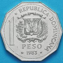 Доминиканская Республика 1 песо 1983 год. Права Человека.