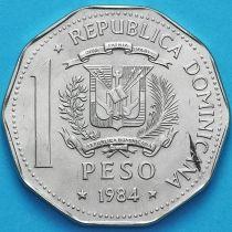 Доминиканская Республика 1 песо 1984 год. Права Человека.