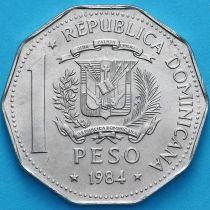 Доминиканская Республика 1 песо 1984 год.