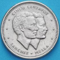 Доминиканская Республика 5 сентаво 1986 год.