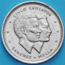 Доминиканская Республика 5 сентаво 1987 год.