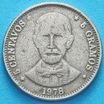 Доминиканская Республика 5 сентаво 1978 год.