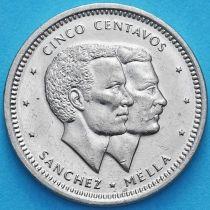 Доминиканская Республика 5 сентаво 1983 год.
