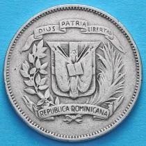Доминиканская Республика 25 сентаво 1972 год.