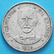 Доминиканская Республика 10 сентаво 1976 год.