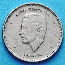 Доминиканская Республика 10 сентаво 1983-1987 год.