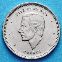 Доминиканская Республика 10 сентаво 1986-1987 год. Хуан Пабло Дуарте.