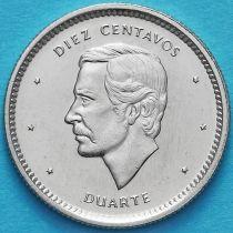 Доминиканская Республика 10 сентаво 1987 год. UNC.
