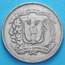 Доминиканская Республика 25 сентаво 1974 год.