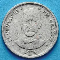Доминиканская Республика 25 сентаво 1976 год.  Хуан Пабло Дуарте.