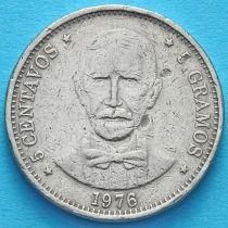 Доминиканская Республика 5 сентаво 1976 год.