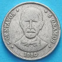 Доминиканская Республика 5 сентаво 1978-1981 год.