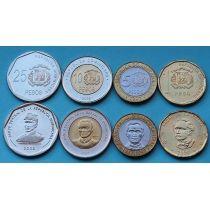 Доминиканская Республика набор 4 монеты 2008-2010 год