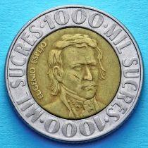 Эквадор 1000 сукре 1996 год.