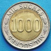 Эквадор 1000 сукре 1997 год.