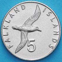 Фолклендские острова 5 пенсов 2019 год. Чернобровый альбатрос.