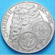 Фолклендские острова 50 пенсов 2001 г. Карл II