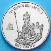 Фолклендские острова 1 крона 2015 г. Королева Елизавета II