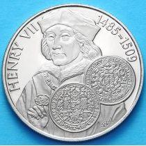 Фолклендские острова 50 пенсов 2001 г. Генрих VII