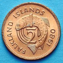 Фолклендские острова 1/2 пенни 1980 год. Лосось.