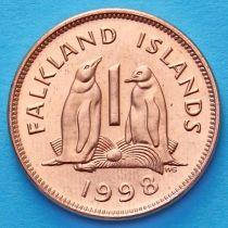 Фолклендские острова 1 пенни 1998 год.