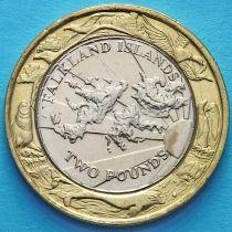 Фолклендские острова 2 фунта 2004 год. 30 лет монетам Фолклендов.