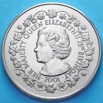 Фолклендские острова 50 пенсов 2001 год. 75 лет Елизавете II
