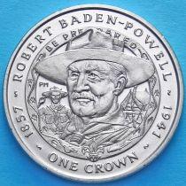 Фолклендские острова 1 крона 2007 год. Роберт Баден-Пауэлл