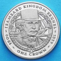 Фолклендские острова 1 крона 2006 год. Изамбард Кингдом Брюнель.