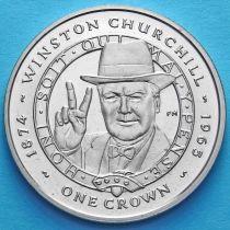Фолклендские острова 1 крона 2007 год. Уинстон Черчилль.