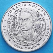 Фолклендские острова 1 крона 2006 год. Нельсон