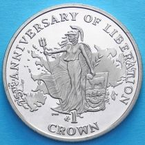 Фолклендские острова 1 крона 2007 год.  25 лет независимости