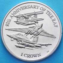 Фолклендские острова 1 крона 2008 год. 90 лет авиации