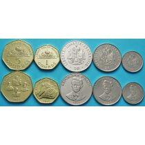 Гаити набор 5 монет 1995-2011 год.
