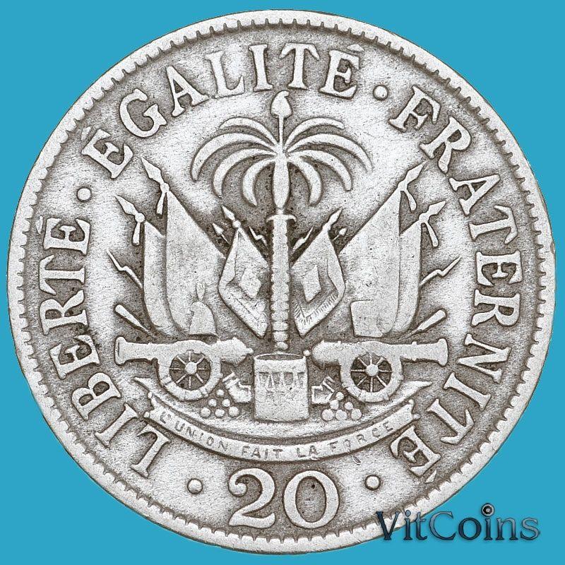Гаити 20 сантим 1907 год.
