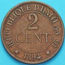 Гаити 2 сантима 1894 год.
