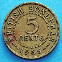 Британский Гондурас 5 центов 1965 год.