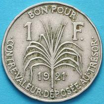 Гваделупа 1 франк 1921 год. №2