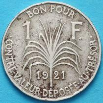 Гваделупа 1 франк 1921 год. №1