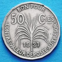 Гваделупа 50 сантим 1921 год.