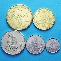 Гватемала набор 5 монет 2009-2013 год.