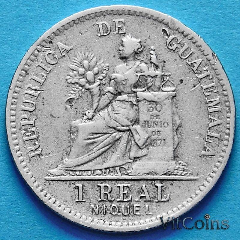 Монета Гватемалы 1 реал 1911 год.